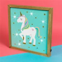 Unicorn Magic MDF Light Up Plaque